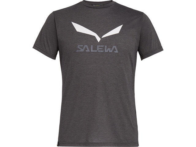 SALEWA Solidlogo Dri-Release Camiseta Manga Corta Hombre, black out melange
